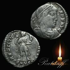 VALENS Siliqua. EMPEROR Chi-Rho. Roman Silver coin. Detecting find. 39 RS