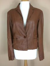 Laura Clement Leather Jacket Size 12 Designer For La Redoute Soft Sheep Leather