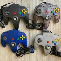 Official Nintendo 64 N64 Controllers Loose Sticks Authentic For Parts [Lot of 4]