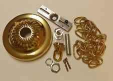 """5"""" Brass Plated Ceiling Canopy Kit With 3' Chain For Light Fixtures 54606Jq"""