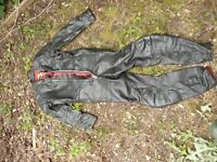 """Motorcycle leathers 1 piece HIGHWAYMAN size 40"""" chest 36"""" waist RARE nice"""