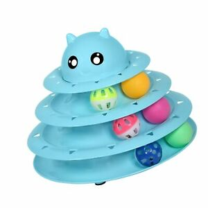 UPSKY Cat Toy Roller 3-Level Turntable Cat Toys Balls with Six Colorful Balls...