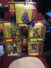 Teen Titans Starfire, Robin, Raven, Cyborg, Beast Boy Paperweight Bust Set