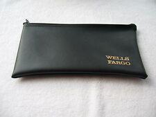 Wells Fargo Bank Money Zipper Deposit Logo  Bag