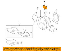 TOYOTA OEM Sequoia Second Row Back Rear Seat-Headrest Head Rest 719400C210E3