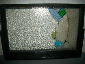 "Vintage  Copper Window Frame Pivot  Vent Art Rustic For 26 1/4"" X 16 1/4"" Glass"