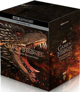 """GAME OF THRONES COMPLETE SERIES 1-8 BOX SET 33 DISC BLU-RAY 4K UHD RB AUS """"NEW"""""""