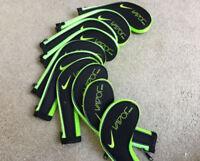 10PCS Black&Green Nike Vapor Iron Golf Club Iron Covers HeadCovers Long Zipper