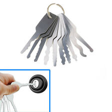 Portable Keychain For Double Sided Locks Unlock Openring Repairing Tool 10Pcs