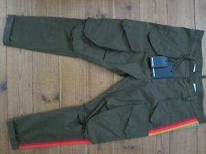 """100% auth. olive cropped Skinny DSQUARED """"RAINBOW STRIPES""""  MILITARY/COMBAT PANT"""