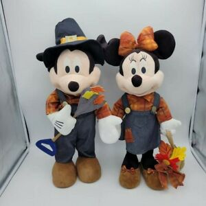 Disney Mickey Mouse and Minnie Mouse Thanksgiving Fall Harvest Porch Greeters