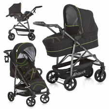 Hauck Kinderwagen Buggy Set Rapid 4S Plus Trioset mit Babyschle Neon Yellow