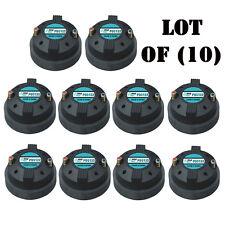 """Lot of (10) Pyle PDS122 1.5"""" Aluminum Horn Drivers 8 Ohm 1-3/8"""" x 18 TPI DJ Pro"""