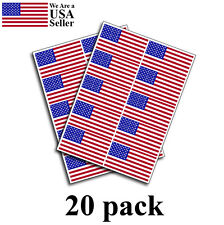 PACK OF 20 American Flag Decal USA Sticker Made in USA 3M military marines Army