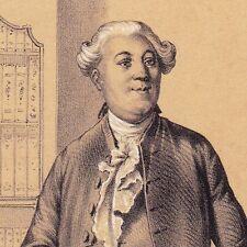 Lithographie Portrait Jacques Necker Banque Finance Révolution Française 1835