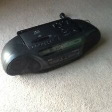 AKAI AM-FM Radio, Dual Cassette, CD Player - Model AJ-W325CD