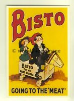 ad3268 - Classic Bisto kids on a wooden horse - Modern Advert Postcard