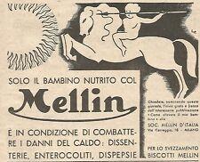 W4749 Solo il bambino nutrito col MELLIN... - Pubblicità del 1934 - Vintage ad