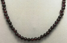 "*Authentic* India Garnette Rounded Bead Crystal 18"" Necklace #37"