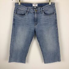 ca485c3e98 Frame Womens Shin Ankle Crop Frayed Mom Mid Rise Denim Jeans - Size 27