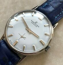 VTG BREITLING GENEVE WHITE DIAL NICKEL PLATED CASE FROM 1950 APROX.