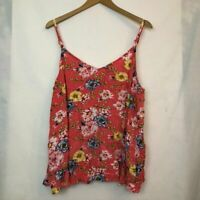 TORRID 3 Sophie Coral Floral Gauze Swing Cami Tank Yellow Sleeveless Rayon 3X