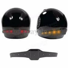 Wireless Motorcycle Motorbike Helmet LED Safety Turn Signal Warning Brake Light