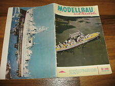 MODELLBAU und BASTELN  # 8 / 1960 -- Zeitschrift für DDR Heimwerker