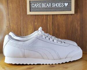 Puma Roma Blank Sneakers Triple White Style 372525-01 MENS SIZE 11