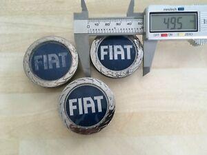 3x Fiat 50mm  wheel  centre caps  # JL31