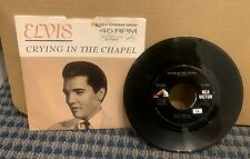 """1960 ELVIS PRESLEY 45 RPM (RCA VICTOR) """"CRYING IN THE CHAPEL""""w/PictureSleeve A32"""