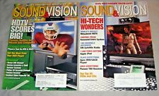 SOUND&VISION 2 MAGAZINE lot Jan,Feb 2002 Home Theater,HDTV sound and vision VG+