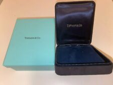 Tiffany & Co. Black Jewelry Box with Blue Outer Box, Empty