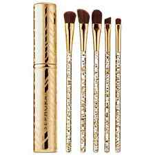 "6 Piece ""Glimmer In Her Eye"" Brush Set Sephora Gold $64 NEW Free Ship+Gift!"