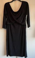 Dress Size 18 Maternity Topshop Black Off Shoulder Long Sleeved