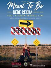 Meant to Be Sheet Music Piano Vocal Bebe Rexha Florida Georgia Line 000275961