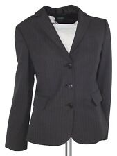 267505b15b5ab benetton giaca blazer donna grigio gessato 3 bottoni taglia it 42 m medium