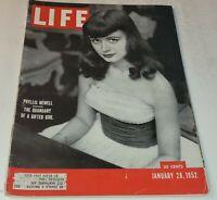 January 28, 1952 LIFE Magazine Graphics 1950s Advertising ads  FREE SHIP Jan 1