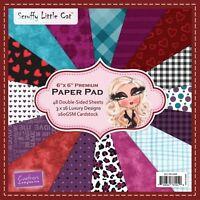 Pack 16 hojas Crafters Companion Darks Maltratado Gatita 6x6 Muestra Papeles