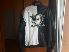 [ULTRA RARE] Anaheim Mighty Ducks Throwback Leather Jacket By Starter (Sz XL)