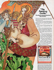Jean Louis American Gothic Gunny Sack Dress DAVID MCCALL JOHNSON 1969 Print Ad