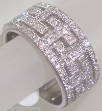 CZ Cubic Zirconia Wedding Band Ring solid  925 sterling silver
