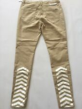 G By Guess Men's Veloz Modern Skinny In Khaki Super Stretch Jeans Size 33