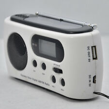 Solar Hand Crank Dynamo Radio LED Flashlight USB Cellphone Charger AM/FM channel
