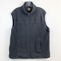 Bass Pro Shops Mens Gray Fleece Zip Front Vest Size Large