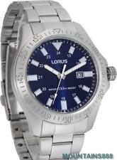 LORUS Watch, LUMIBRITE-Hands&Marks, BlueDial, Date,St/Steel,WR100,Mens,RH917HX-9