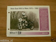 MVE60- MOTO GUZZI 850 LE MANS 1975-92 MINI POSTER AND INFO MOTORCYCLE,MOTORRAD