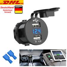 Wasserdicht Auto Steckdose USB Ladegerät Buchse 12V/24V für Motorrad KFZ Einbau