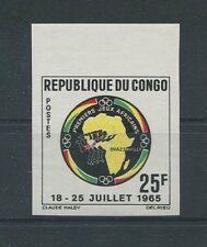 CONGO AFRIKA-SPIELE 1965 UNGEZÄHNT SPORT SPORTS IMPERF NON DENTELE RARE h1271