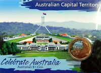 2009 $1 CELEBRATE AUSTRALIA CAPITAL TERRITORY Coin on Card